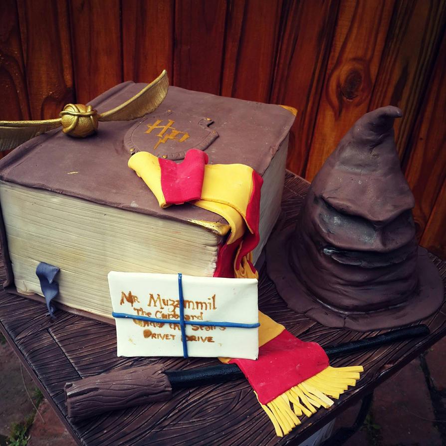 Harry Potter paraphernalia cake by I-am-Ginger-Pops