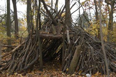 stick house by Demonikastock