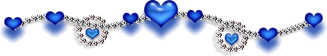 Blue heart and silver chain border