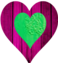 Green And Purple Heart