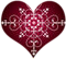 Burgundy Heart Fancy by AudraMBlackburnsArt