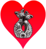 Siamese Cats Heart by Sugaree33-Art