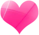 Pink Shiny Vector Heart Small by Sugaree33-Art