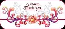 a WARM THANK YOU by AudraMBlackburnsArt