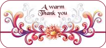 a WARM THANK YOU
