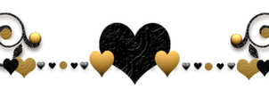 Audra's Gold And Black  Heart Divider by Sugaree-33
