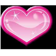 Shiny Pink Heart by Sugaree33-Art