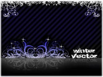 winter vector BWB