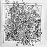 Zentangle pattern drawing