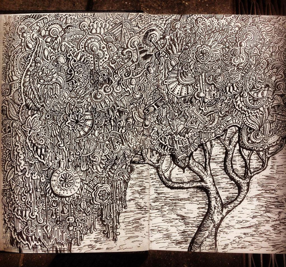 Zentangle pattern tree drawing by NikitaGrabovskiy on ...