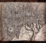 Zentangle pattern tree drawing