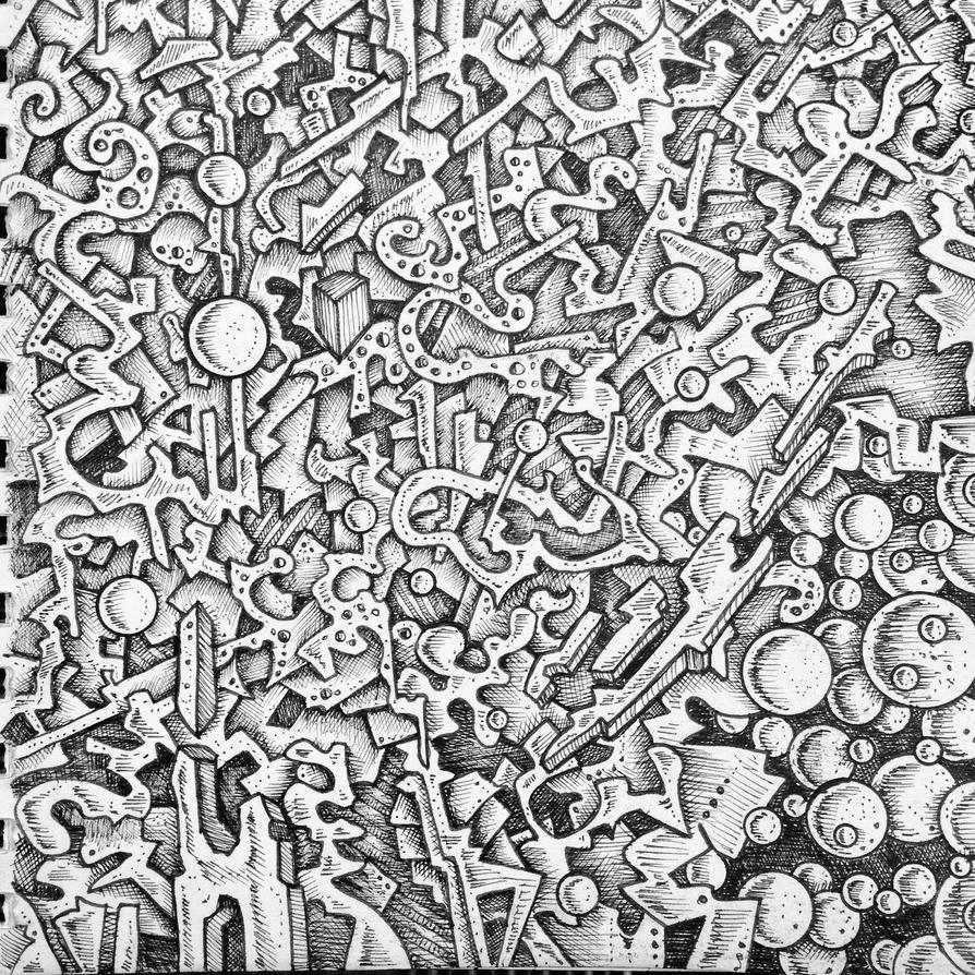 Abstract drawing pattern by NikitaGrabovskiy