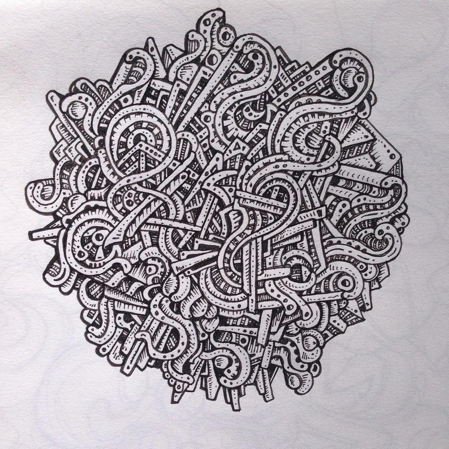 Abstract drawing by NikitaGrabovskiy