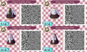 Vocaloid3 Galaco cosplay QR codes by Punk-girl92