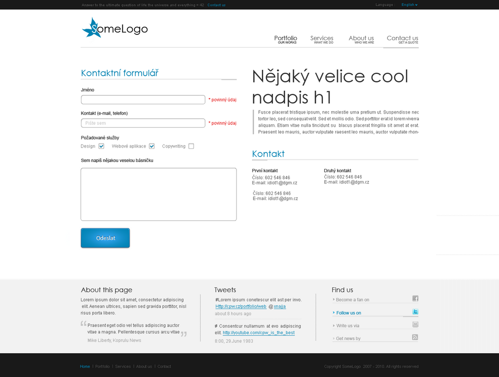 Contact page design by fr33czfd