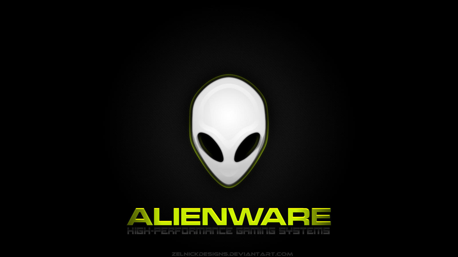 Alienware Wallpaper v1 Green by ZelnickDesigns