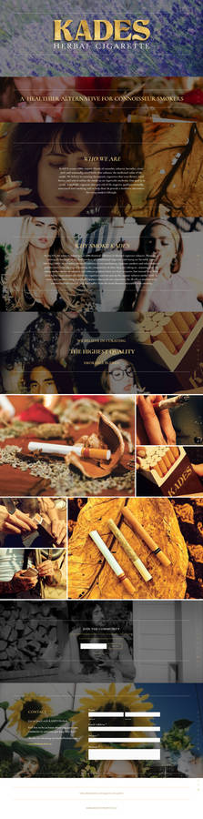KADES HERBAL CIGARETTE WEBSITE SNAPSHOT