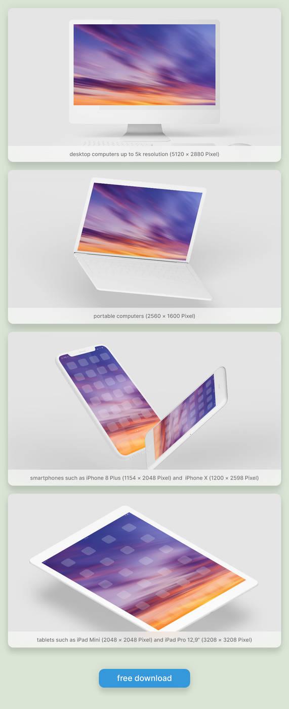 FREE Wallpaper Set ''Sunset''