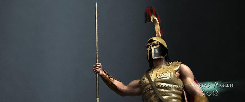 Greek hoplite by kosv01 on DeviantArt