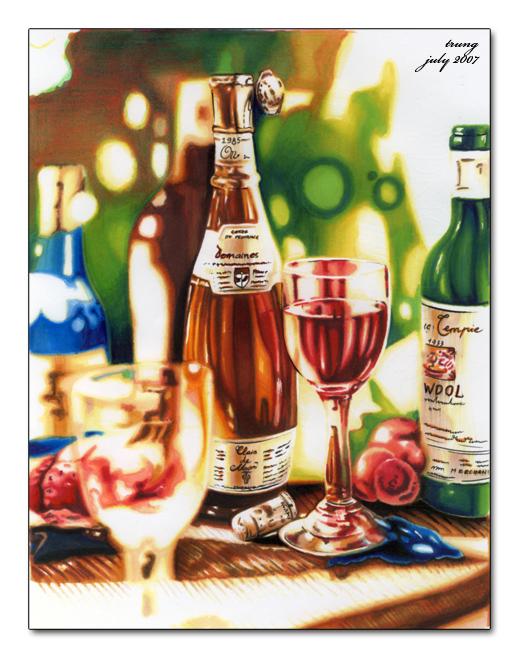 Wine bottles by nntrung