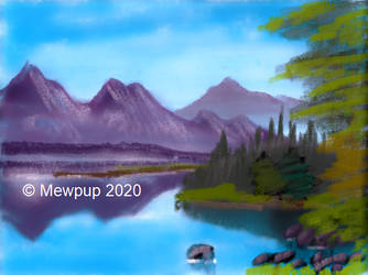MS Paint 3D Bob Ross: Reflections of Calm by Mewpup