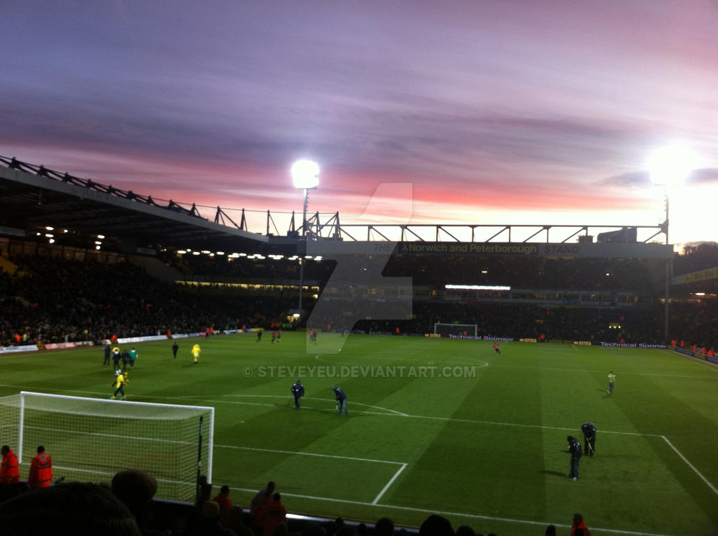 Carrow Road Sunset By Steveyeu On DeviantArt