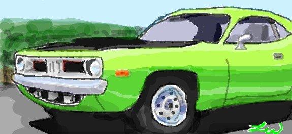 Lime Light Green 'Cuda by PxRxSxRx