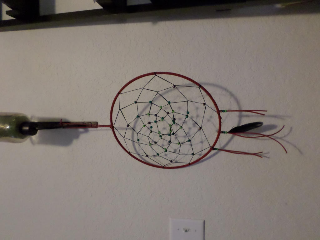 Homemade dream catcher for sale by darkenedsoul333 on for Easy homemade dream catchers