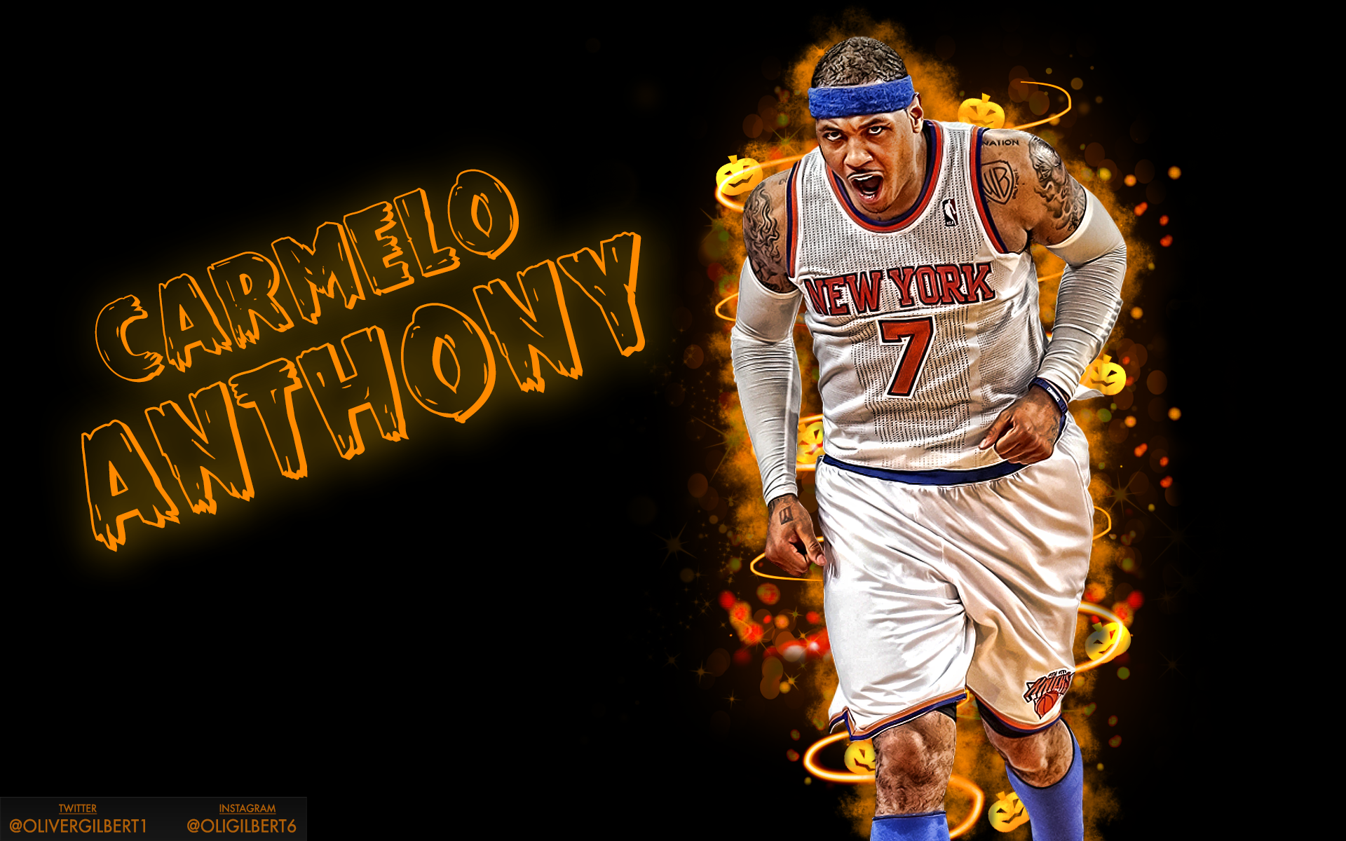 Emanproedits 2 0 Carmelo Anthony Halloween Wallpaper By Hecziaa