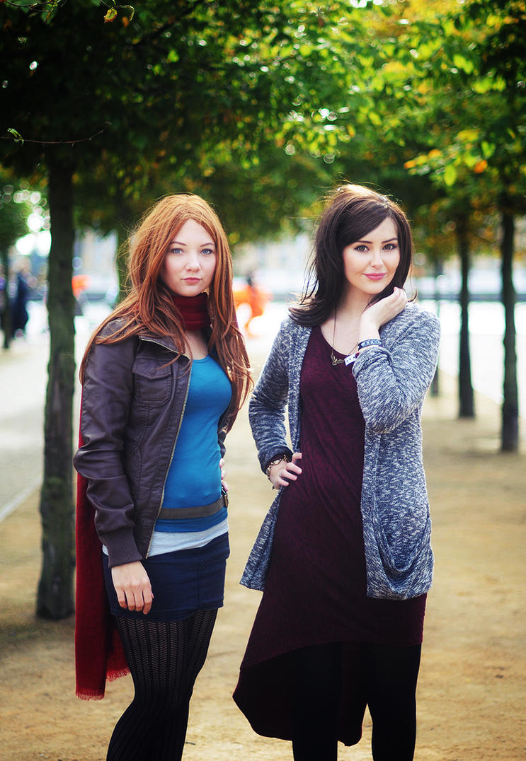 Amy and Clara by StarbitCosplay