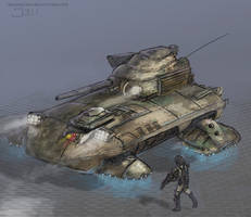 Hovertank concept by Henskelion
