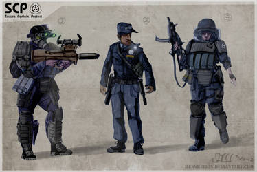 SCP SecTeam concept by Henskelion