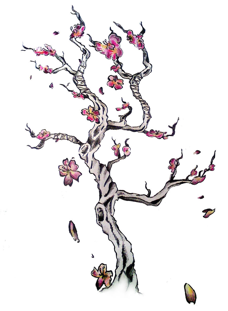 Cherry Blossom Tattoo by ~sweetsarcasm on deviantART