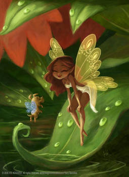 Fairy and her puppy