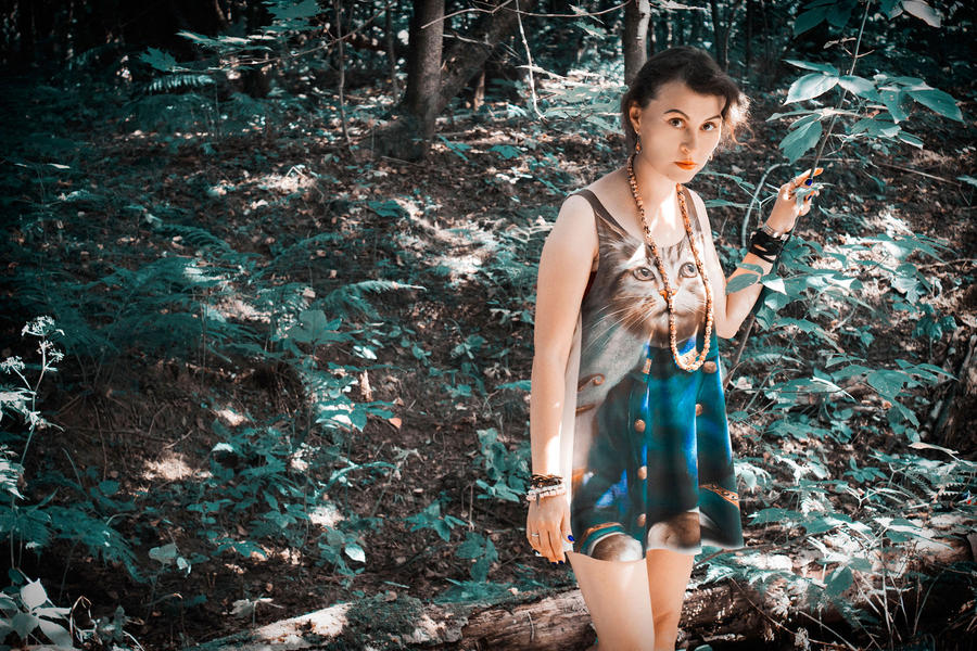 Sister In Woods by wormwood-doll