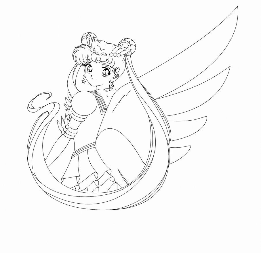 Eternal Sailor Moon Contorno by JackoWcastillo on DeviantArt