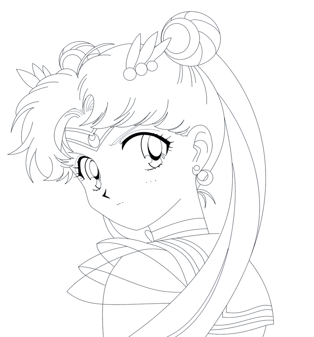 Line Drawing Moon : Sailor moon super s sketch by