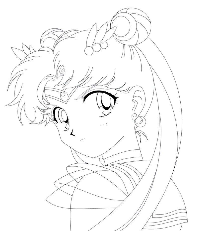 how to draw sailor moon full body