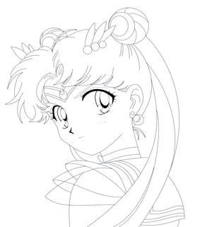 SAILOR MOON SUPER S - Super Sailor Moon (Sketch)