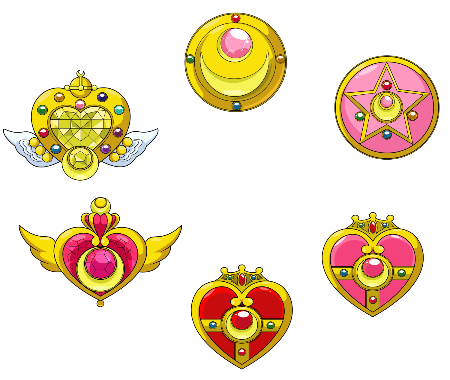 Sailor moon and scouts favourites by kermitgirl08 on deviantart lumi mae 2040 160 sailor moon extra broche makeup by jackowcastillo biocorpaavc Images