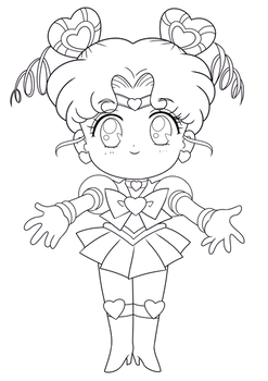 LINE ART - Sailor Chibi Chibi Moon
