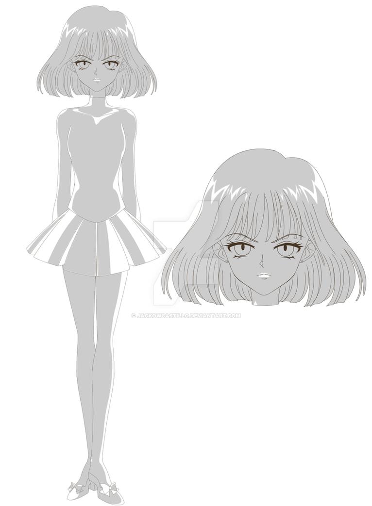 SAILOR MOON CRYSTAL - Hotaru Tomoe (Sketch) by JackoWcastillo