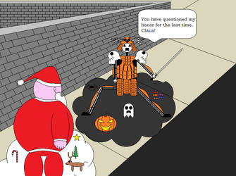 Jack Vs. Santa by DoomChilla