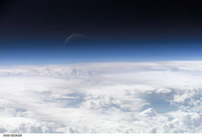 A Blue Crescent Moon from Space