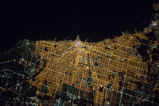 Night Image of Chicago