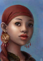 A lady by kafine