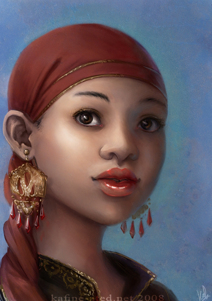 A lady by kafine