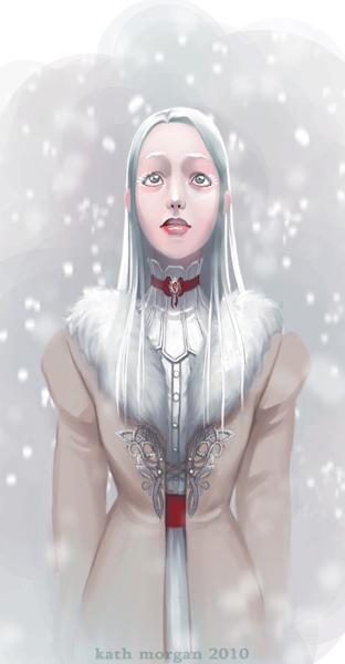Aurora in a winter jacket by kafine
