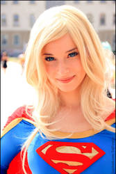 Supergirl close up