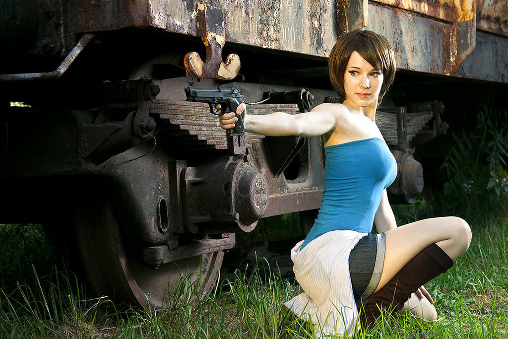 Jill Valentine cosplay II by EnjiNight